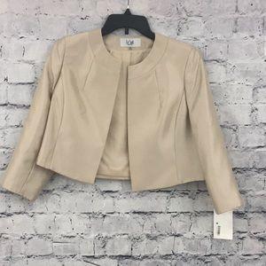 Le Suit Shiny Crop Blazer 01008